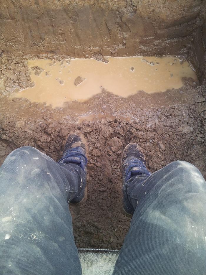 Muddy hole