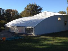 The completed greenhouse.